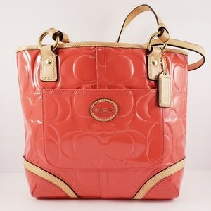 COACH Peyton Embossed Patent Leather Tote